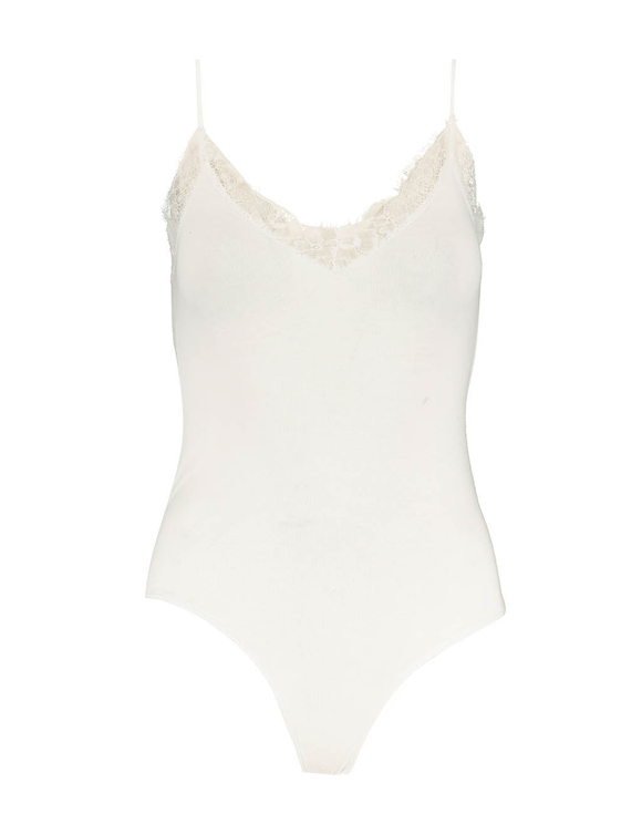 White Bodysuit with Lace