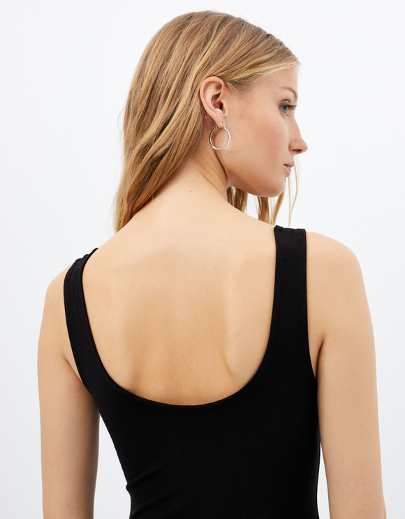 Black Printed Bodysuit