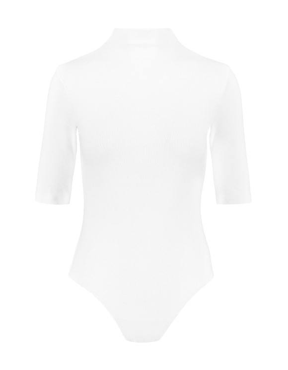 Body Blanc Col Montant
