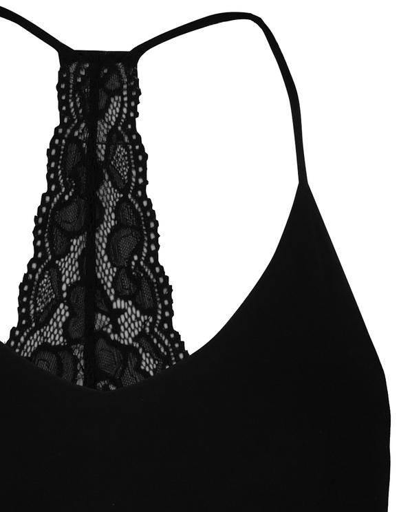 Body Noir Dos en Dentelle