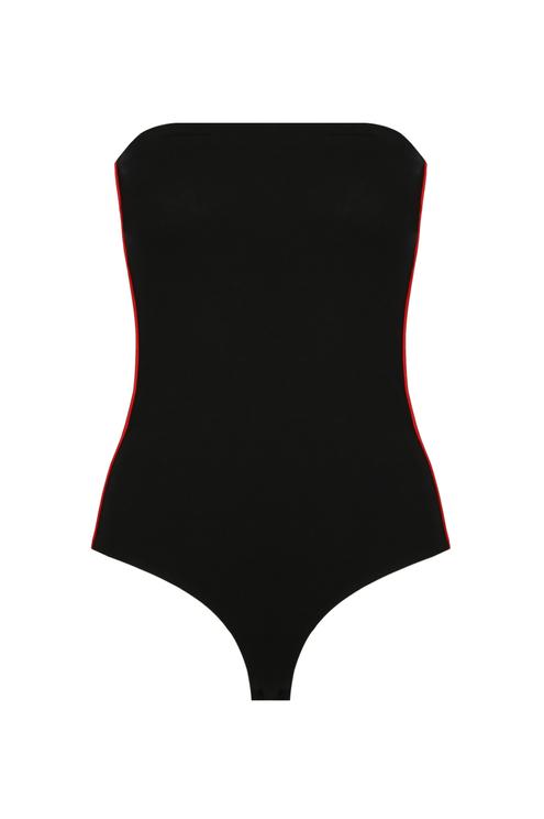 Black Side Stripe Bodysuit