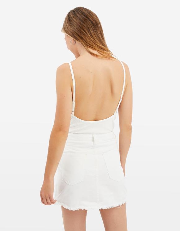 Białe Body Prążkowane