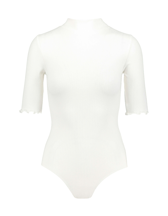 Body Blanc Col Montant