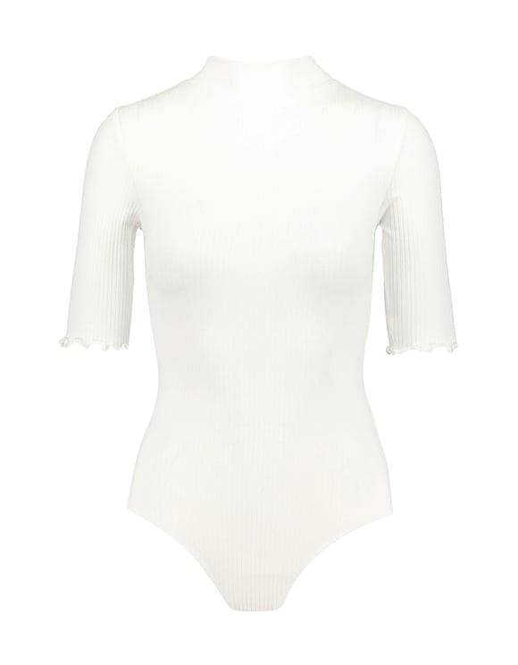 White Mock Neck Bodysuit