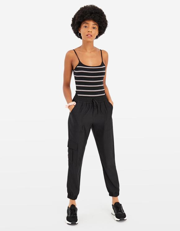 Black Striped Bodysuit