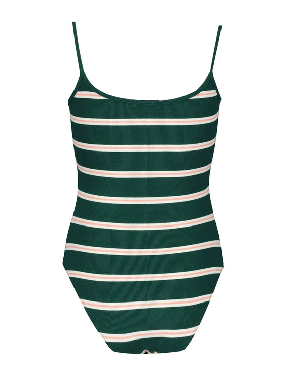 Green Striped Bodysuit