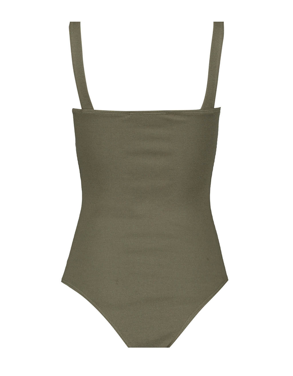 Khaki Ribbed Bodysuit