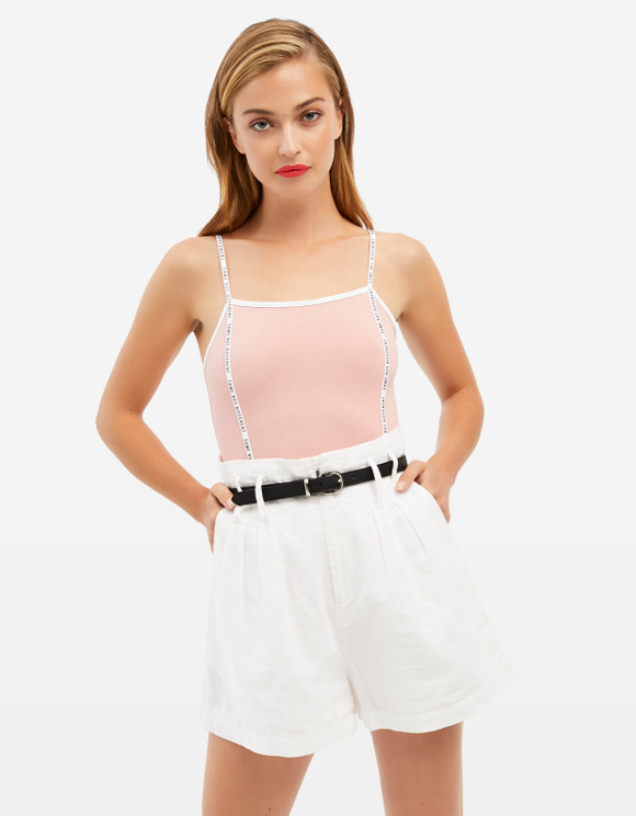 Pink Bodysuit with Slogan