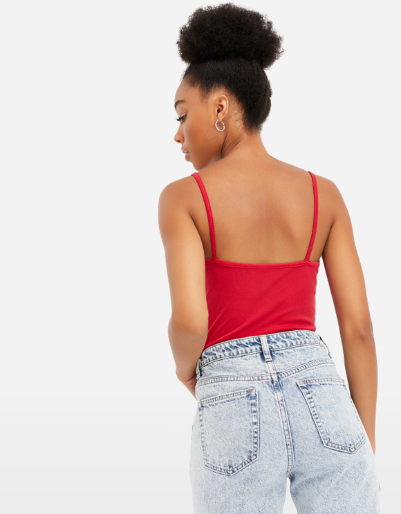 Roter Bodysuit