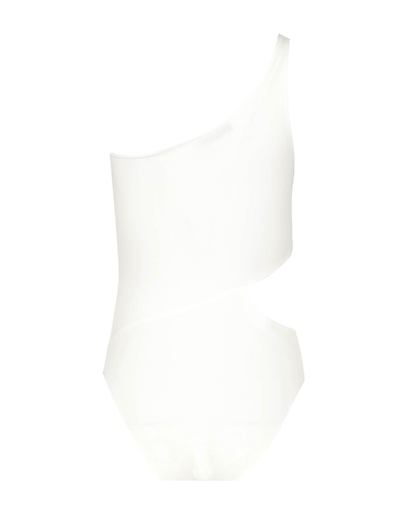 White Asymetric Bodysuit