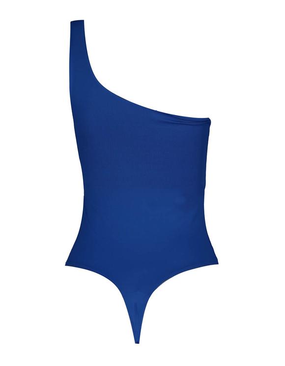 Blauer, asymmetrischer Body