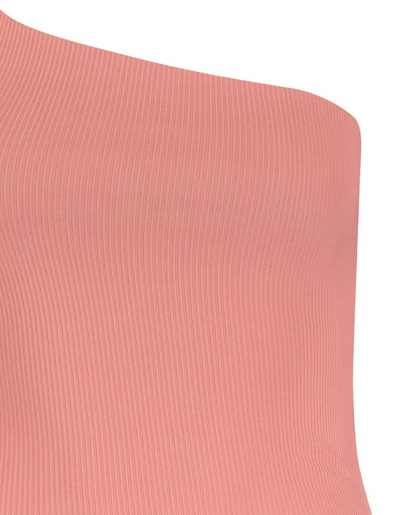 Pink One-Shoulder Bodysuit