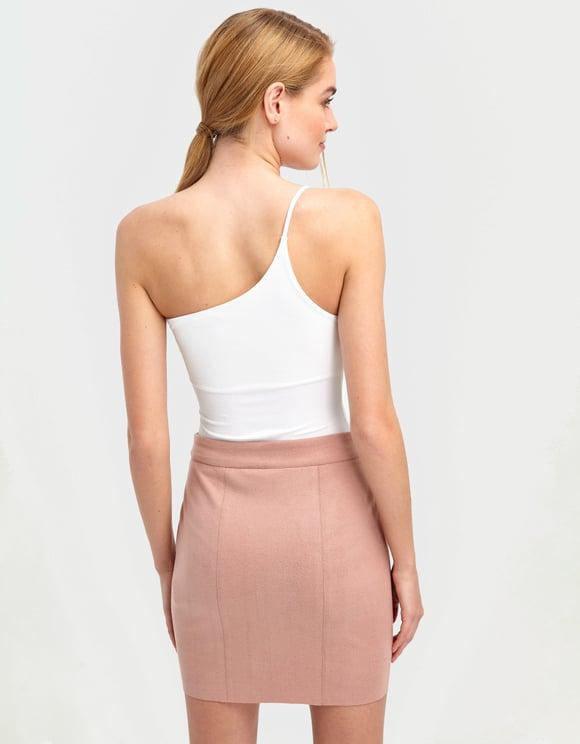 White One-Shoulder Bodysuit