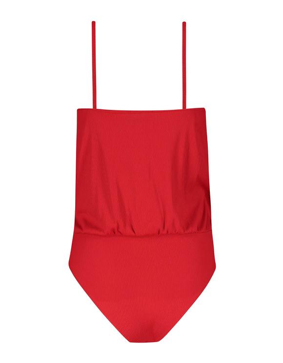Roter Body mit Wickeldesign