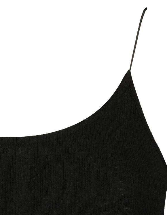 Schwarzer, gerippter Body