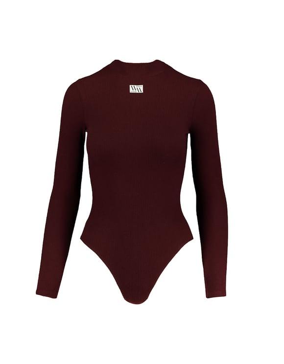 Burgundy Bodysuit with Label