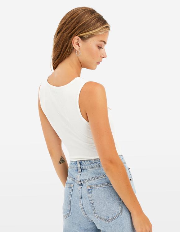 White Wrap Top Bodysuit