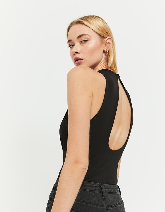 Black Bodysuit with Slit