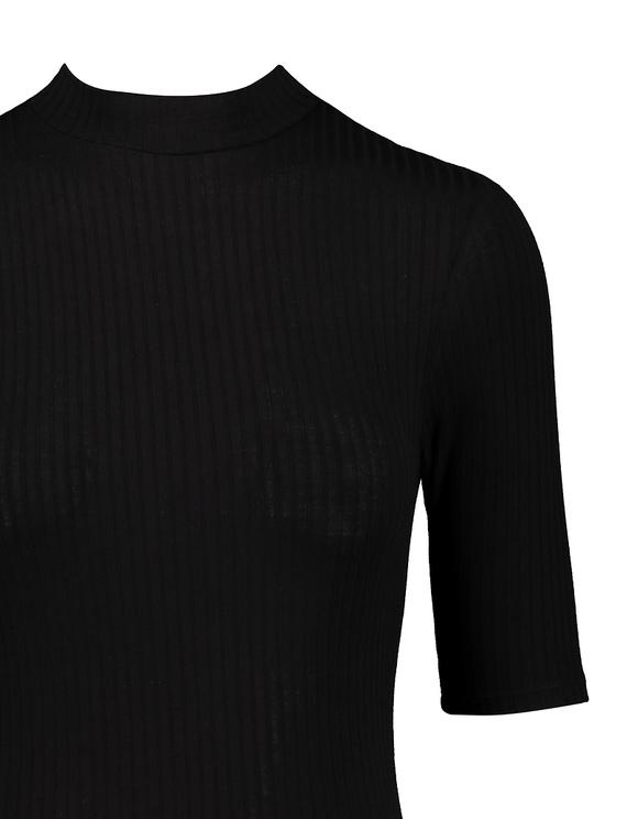 Black Ribbed Bodysuit