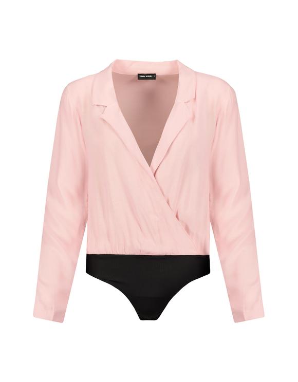 Pink Wrap Shirt Bodysuit