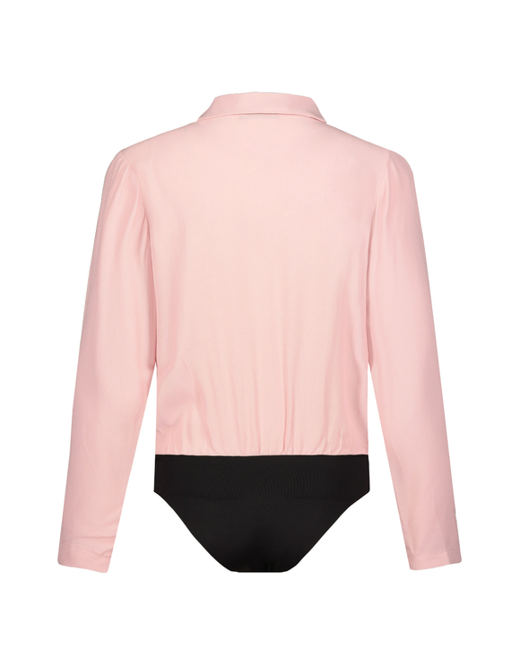 Pink Wrap Shirt Bodysuit