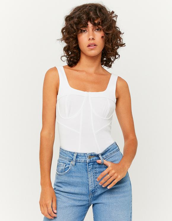 White Corset Bodysuit