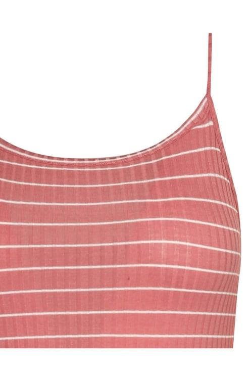 Pink Striped Bodysuit