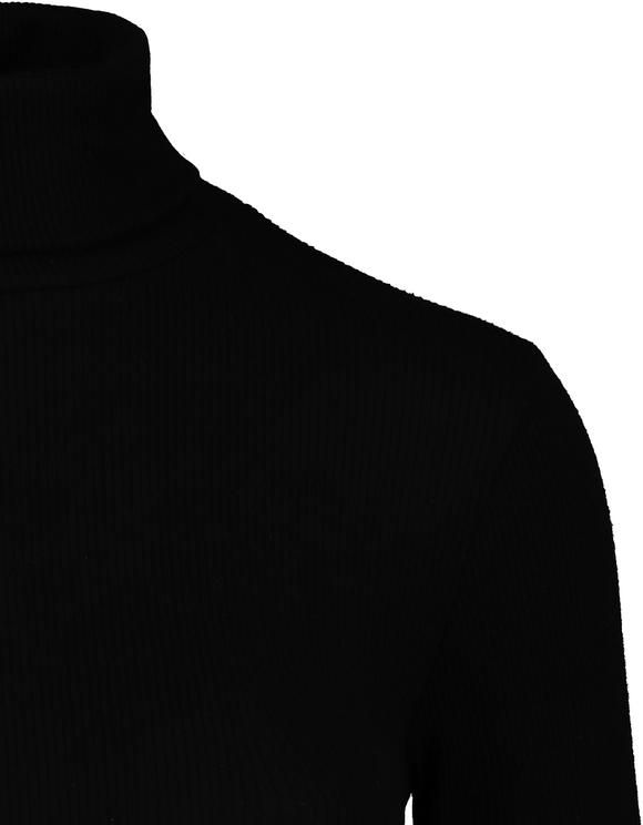Schwarzer Body mit Stehkragen