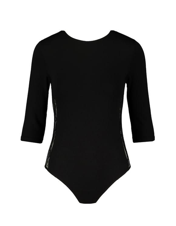 Black Bodysuit Lace on Sides
