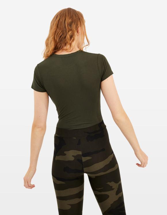 Khaki Basic Bodysuit
