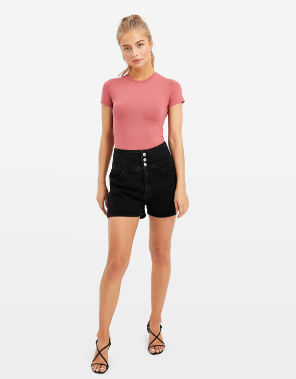 Pink Basic Bodysuit