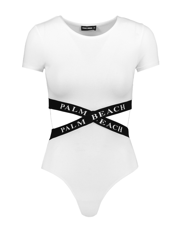 White Bodysuit with Cut Out