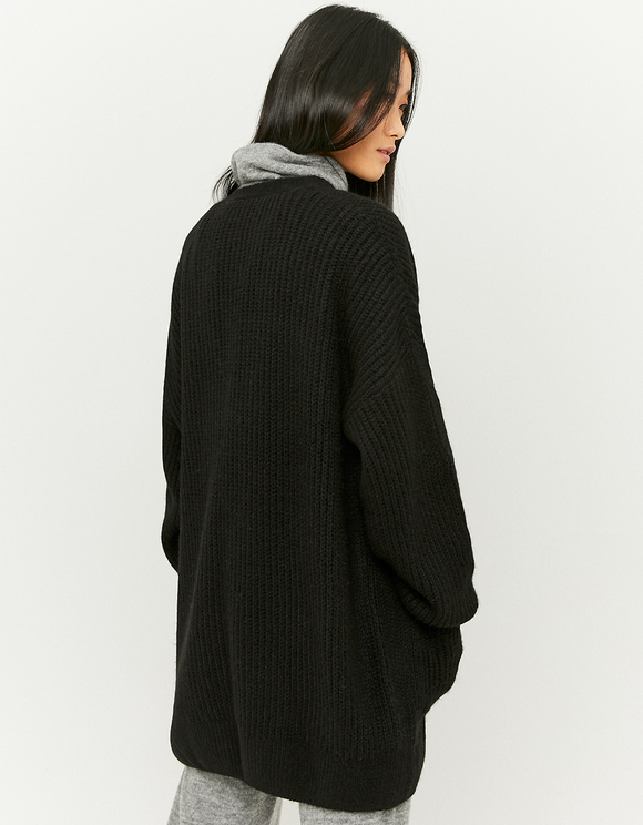 Long Puff Sleeve Cardigan
