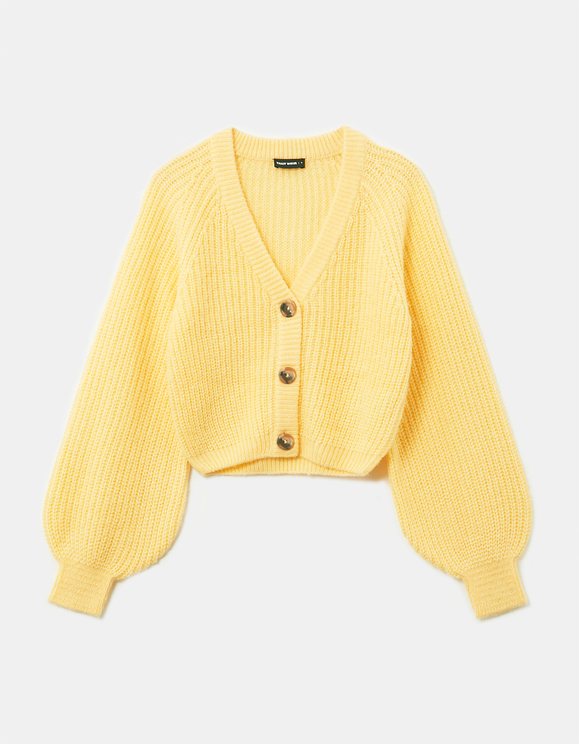 Cardigan Court Jaune