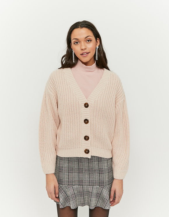 Light Pink Knitted Cardigan