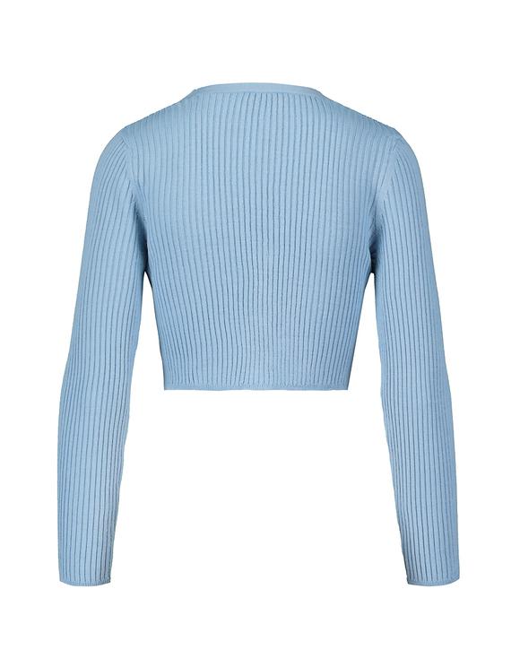 Blauer kurzer Cardigan