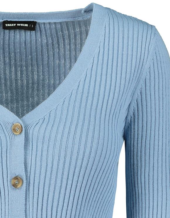 Blue Cropped Cardigan