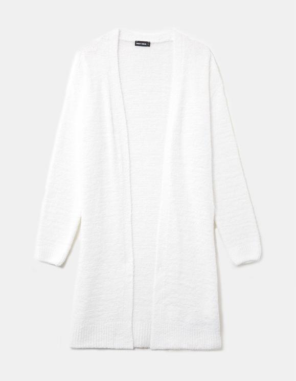 Cardigan Long Blanc