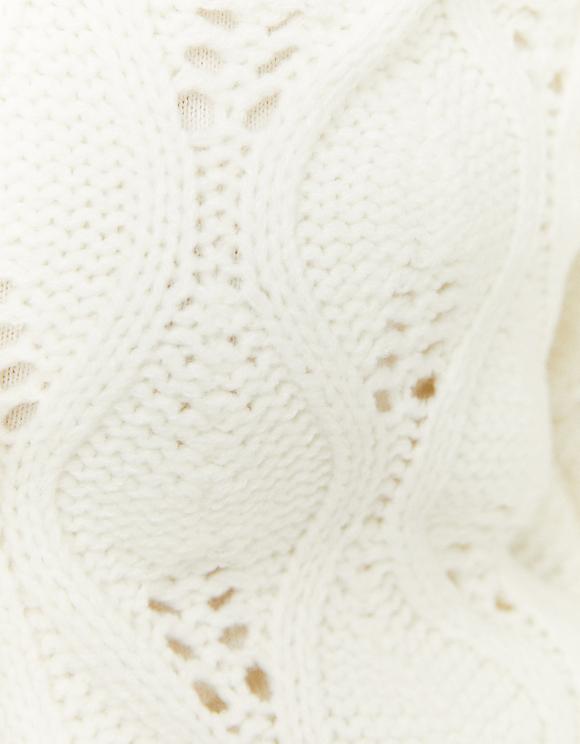 Weißer Cardigan aus Pointelle