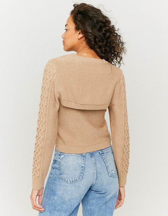Beige Open Jumper
