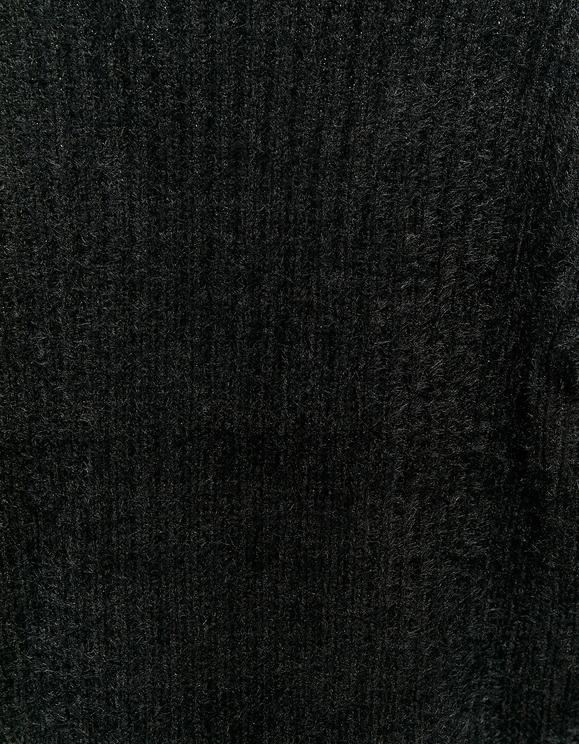 Cardigan Noir à Nouer