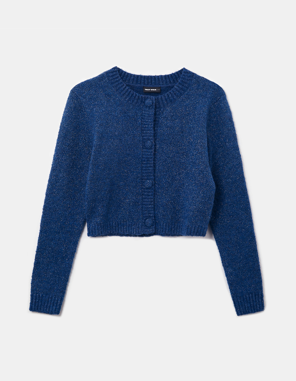 Cropped Lurex Cardigan