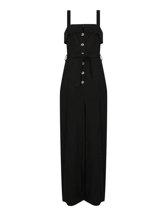 Black Buttonned Jumpsuit