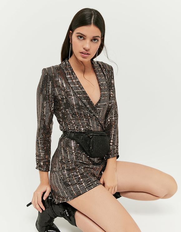 Glitzernder Playsuit
