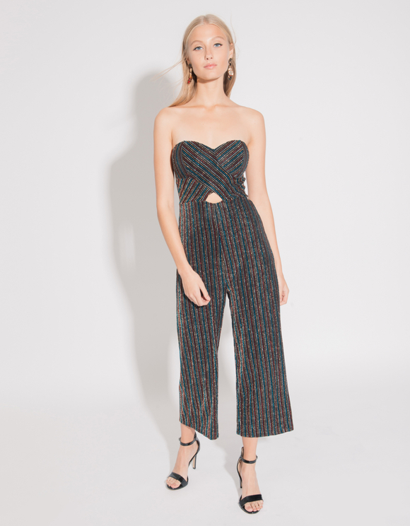 Black Lurex Jumpsuit