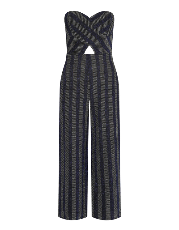 Blue Lurex Jumpsuit