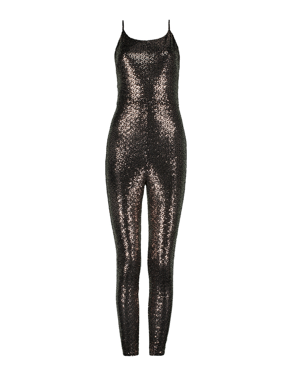 Glitzernder Playsuit aus Lurex
