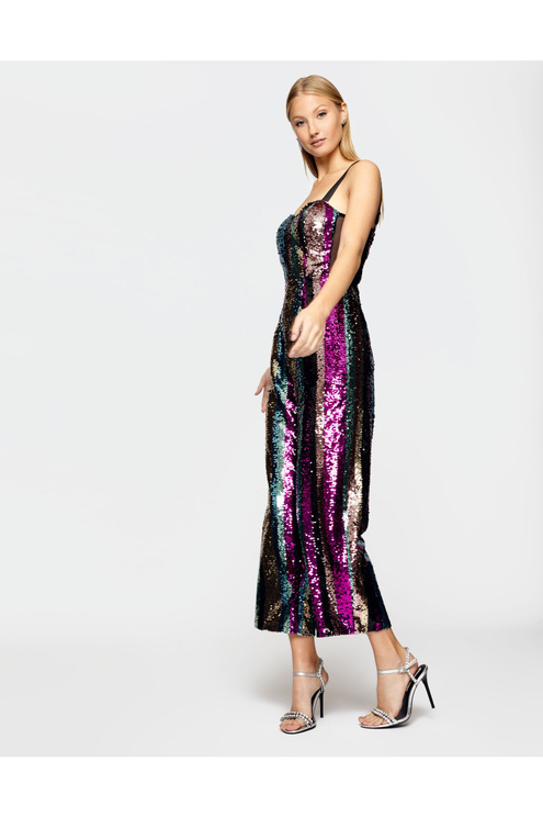 Multicolor Sequin Jumpsuit