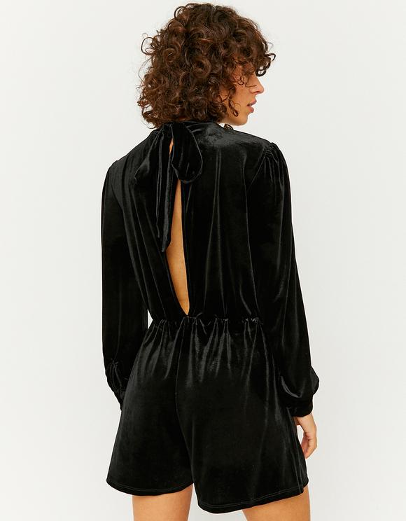 Black Velvet Playsuit