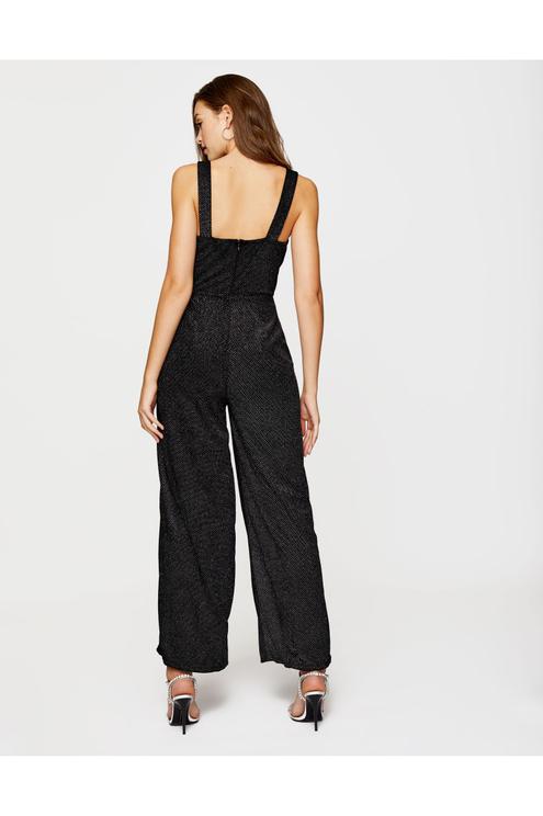 Black Glitter Jumpsuit